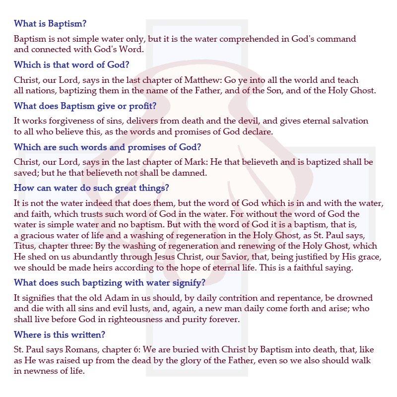 understanding baptism Meaning, understanding and importance of water baptism by immersion the word baptism is from the greek word baptisma and from a primary greek verb bapto, which is also the root of the word baptize.